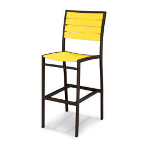 Polywood Furnishings - Eurou2122 Bar Side Chair in Textured Bronze / Lemon