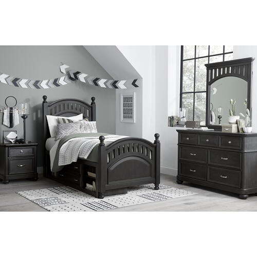 Kids 7 Drawer Dresser in Charcoal Brown