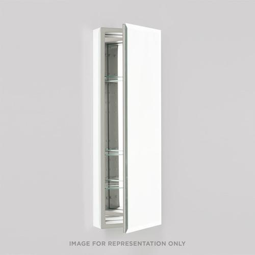 """Pl Series 15-1/4"""" X 39-3/8"""" X 4"""" Flat Top Cabinet With Bevel Edge, Non-handed (reversible), White Interior and Non-electric"""