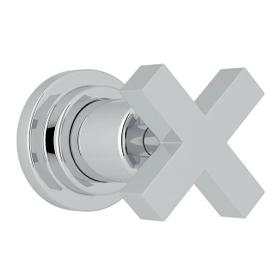 Lombardia Trim for Volume Control and 4-Port Dedicated Diverter - Polished Chrome with Cross Handle