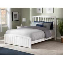 Richmond Full Bed with Matching Foot Board in White
