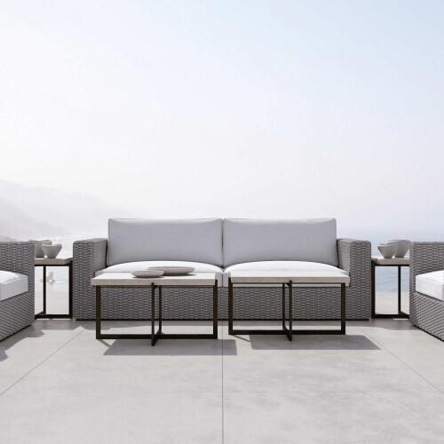 Bernhardt - Capri Sofa in Rope in Gray Mist