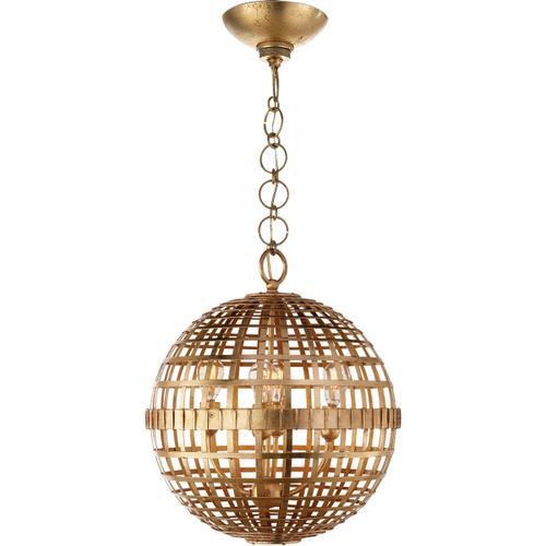 Visual Comfort - AERIN Mill 4 Light 16 inch Gild Globe Lantern Ceiling Light, Small