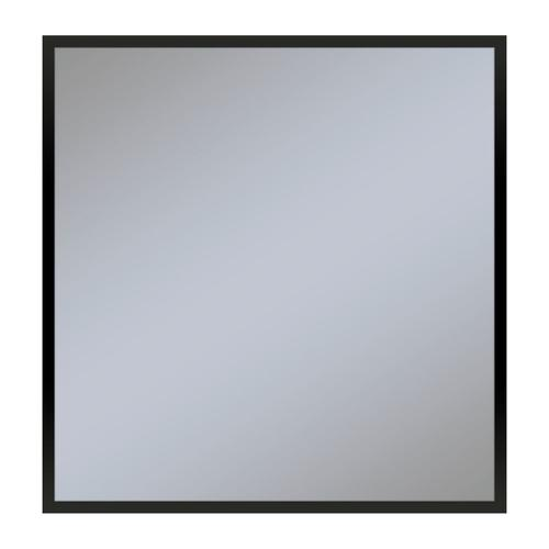 "Profiles 29-1/8"" X 29-7/8"" X 3/4"" Framed Mirror In Matte Black"