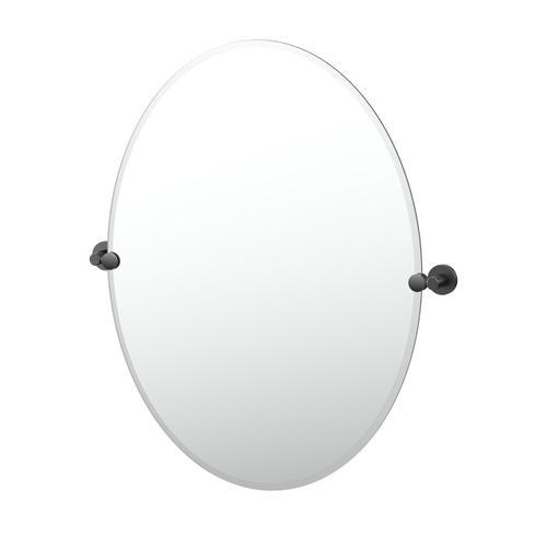 Reveal Oval Mirror in Matte Black