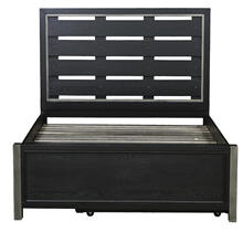 Graphite Footboard with Slats Full