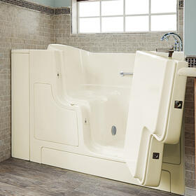 Gelcoat Value Series 30x52-inch Outward Opening Door Soaking Walk-In Bathtub  American Standard - Linen