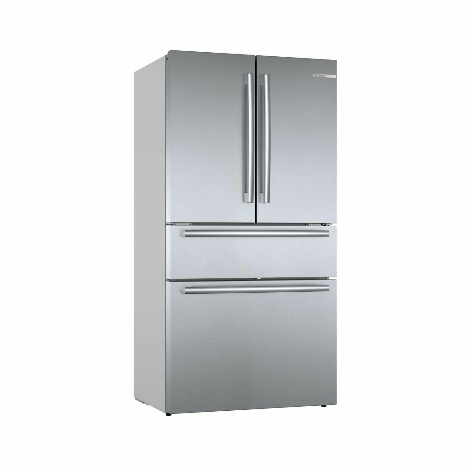 Bosch800 Series French Door Bottom Mount Refrigerator 36'' Easy Clean Stainless Steel B36cl80sns