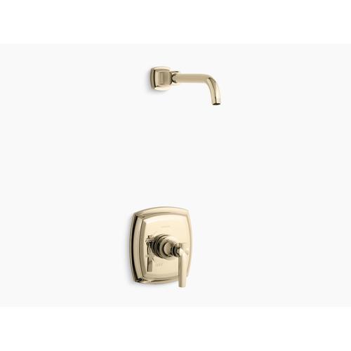 Kohler - Vibrant French Gold Rite-temp Shower Valve Trim With Lever Handle, Less Showerhead