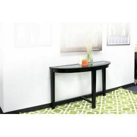ACME Kort Sofa Table, Espresso & Clear Glass - 18459
