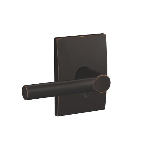 Custom Broadway Lever with Century Trim Hall-Closet and Bed-Bath Lock - Aged Bronze