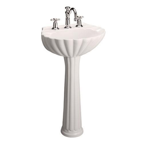 "Bali Pedestal Lavatory - 4"" Centerset / Bisque"