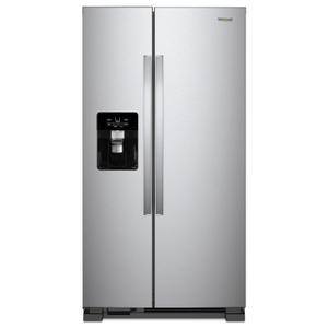 Whirlpool36-inch Wide Side-by-Side Refrigerator - 25 cu. ft. Fingerprint Resistant Stainless Steel