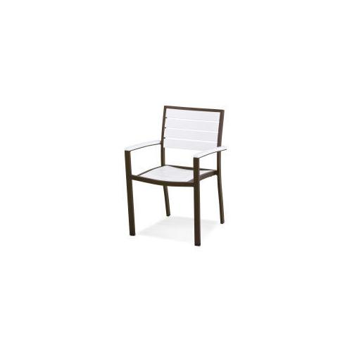Polywood Furnishings - Eurou2122 Dining Arm Chair in Textured Bronze / White