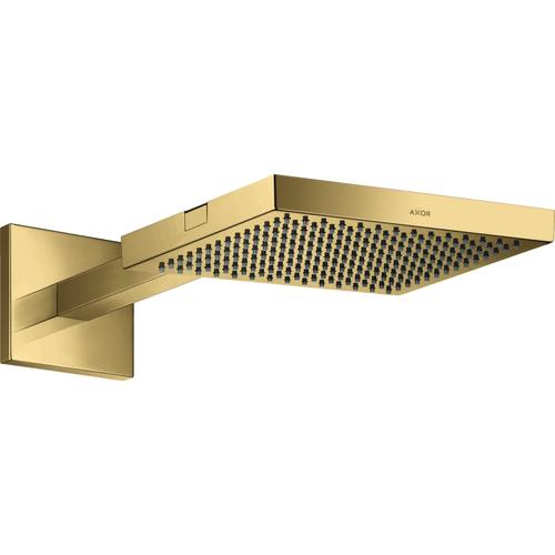 AXOR - Polished Gold Optic Showerhead 240 1-Jet with Showerarm Trim, 2.5 GPM