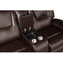 See Details - Belmont Console Loveseat, Brown