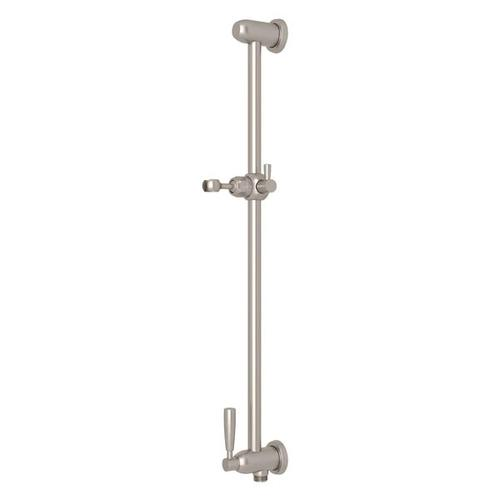 Holborn Slide Bar with Integrated Volume Control and Outlet - Satin Nickel