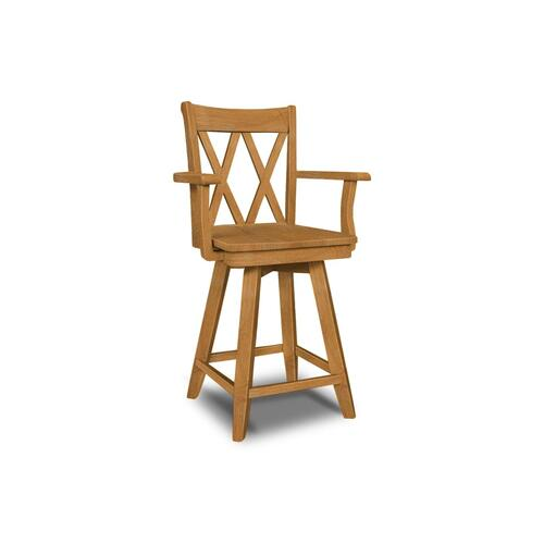 John Thomas Furniture - 24'' XX Back Swivel w/ Arms
