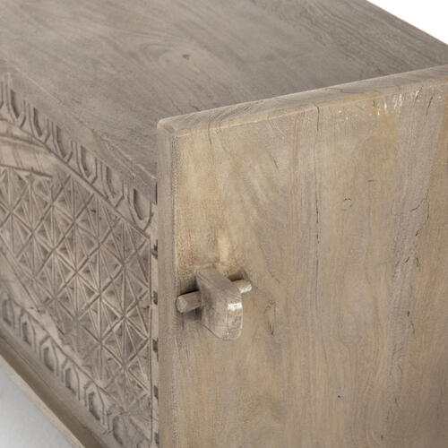 Aged Grey Finish Columbus Trunk