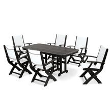 Black & White Coastal 7-Piece Dining Set