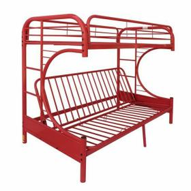 ACME Eclipse Twin/Full/Futon Bunk Bed - 02091W-RD - Red