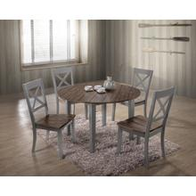 5059 ALACARTE: Grey Rectangular Table & 4 Dining Chairs