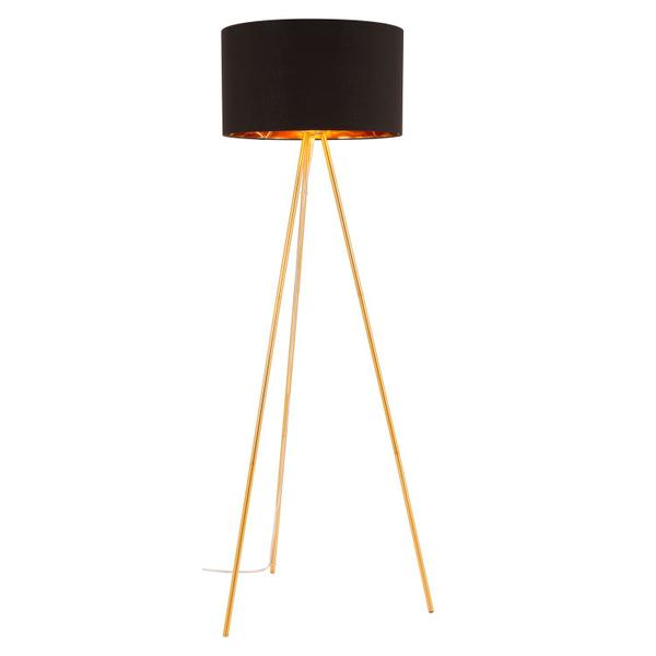 See Details - Mariel Floor Lamp Black & Gold