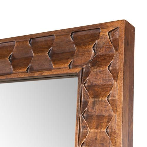 Raffael Floor Mirror-carved Antiq Brown
