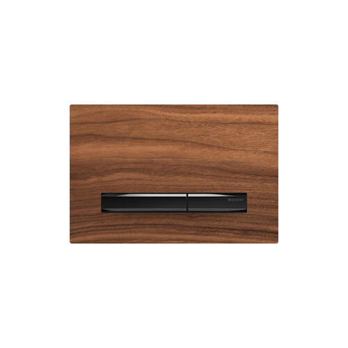 Sigma50 Dual-flush plates for Sigma series in-wall toilet systems Black Walnut Finish