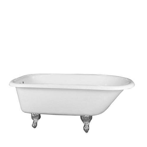 """Barclay - Andover 60"""" Acrylic Roll Top Tub - Bisque / Bisque"""