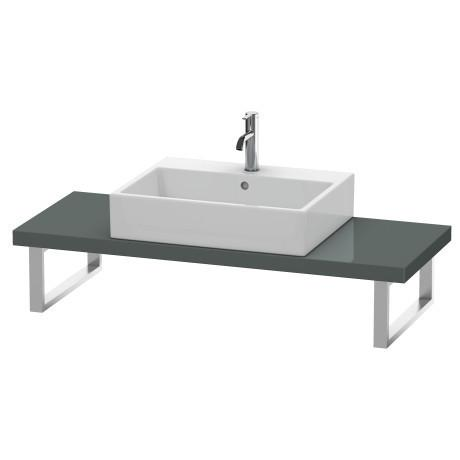 Console For Above-counter Basin And Vanity Basin Compact, Dolomiti Gray High Gloss (lacquer)