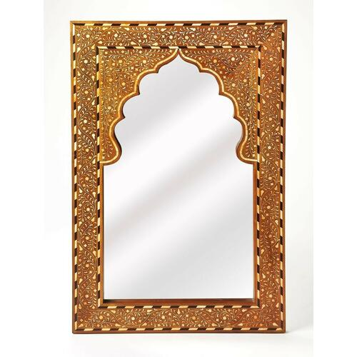 Butler Specialty Company - This rectangular wall mirror is an extraordinary feat of craftsmanship. Its wondrous botanical design with a mihrab inset frame is painstakingly created inlaying bone ™ within a merranti wood frame ™ one individual piece at a time. Its hand rubbed finish will elegantly blend with virtually any style while imparting a touch of bohemian chic to a living room, hallway or entryway.