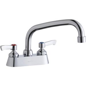 "Elkay 4"" Centerset with Exposed Deck Faucet with 8"" Arc Tube Spout 2"" Lever Handles Product Image"