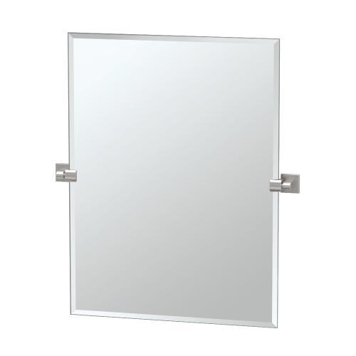 Elevate Rectangle Mirror in Satin Nickel