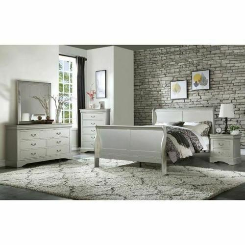 ACME Louis Philippe III Queen Bed - 26700Q - Platinum