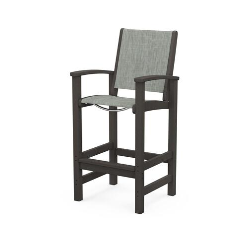 Polywood Furnishings - Coastal Bar Chair in Vintage Coffee / Birch Sling