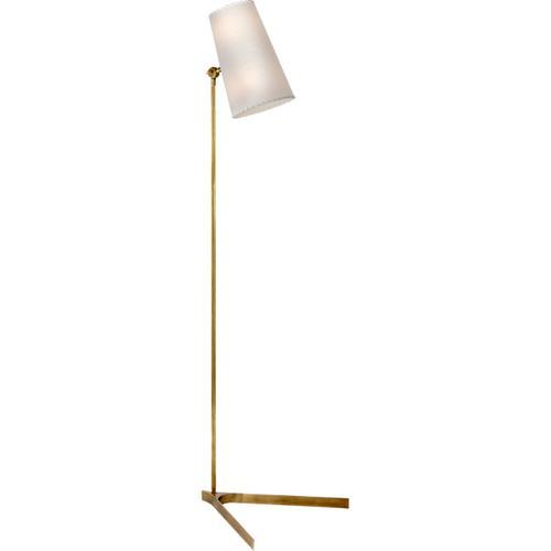 AERIN Arpont 57 inch 60 watt Hand-Rubbed Antique Brass Floor Lamp Portable Light