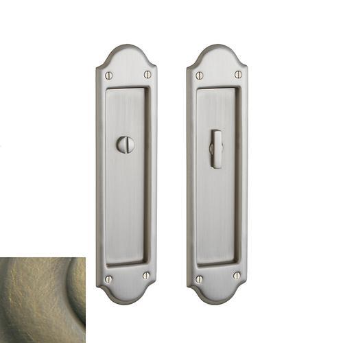 Baldwin - Satin Brass and Black PD016 Boulder Pocket Door