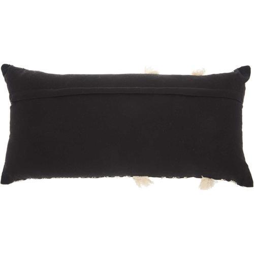 """Life Styles Ns896 Black/white 12"""" X 24"""" Throw Pillow"""