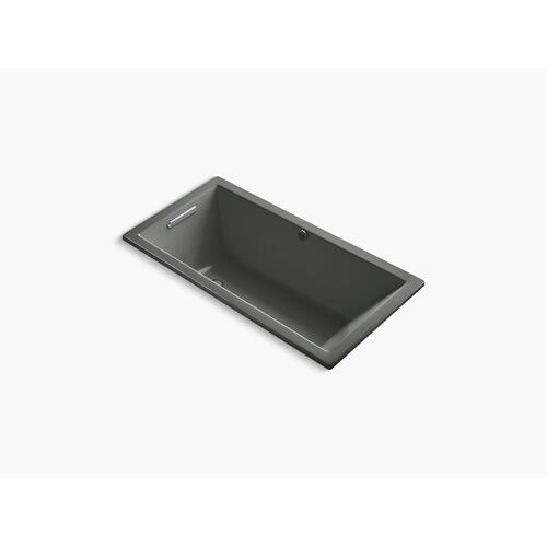 "Thunder Grey 60"" X 30"" Drop-in Bath With Bask Heated Surface and Reversible Drain"