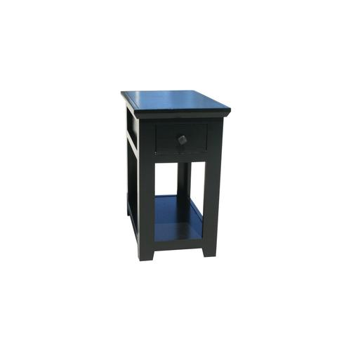 "O-S251 Shaker Oak 1-Drawer 15"" Chair Side Table"
