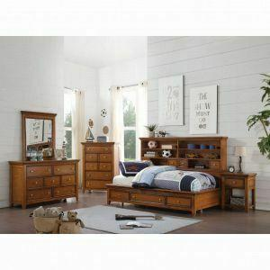 Acme Furniture Inc - ACME Lacey Daybed w/Storage (Full) - 30555F - Cherry Oak