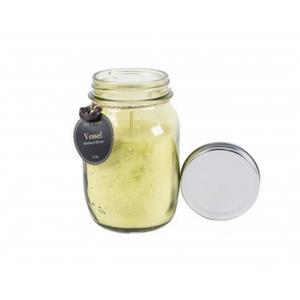 Green Mason Jar Candle - Medival Winter