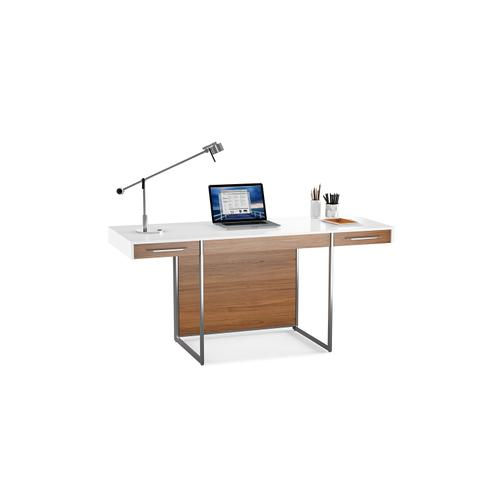 BDI Furniture - Format 6301 Desk in Natural Walnut Satin White