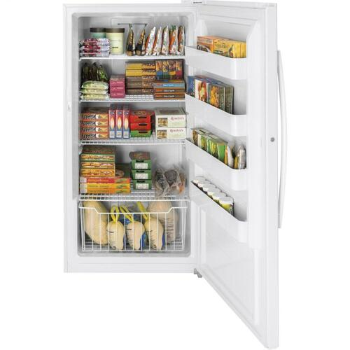GE Appliances - GE® 17.3 Cu. Ft. Frost-Free Garage Ready Upright Freezer
