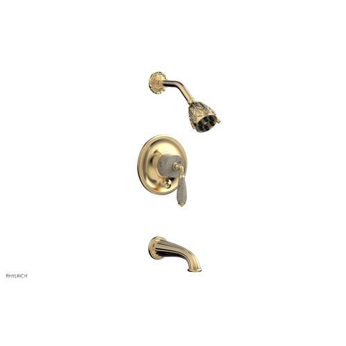 VALENCIA Pressure Balance Tub and Shower Set PB2338D - Satin Brass