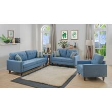 Kourtney Blue Loveseat