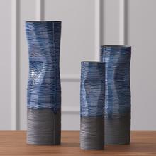 See Details - Carved Dented Vase-Ink-Lg