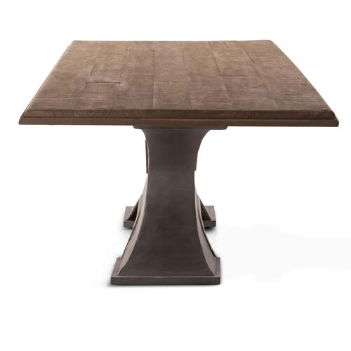 "Steel City 90"" Dining Table Antique Oak"