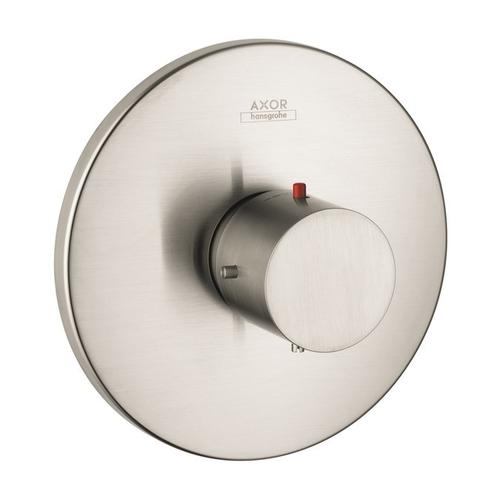 Brushed Nickel Thermostat HighFlow for concealed installation